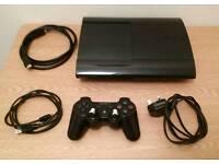 Ps3 super slim 320gb. Controller & Games