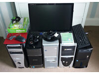 Full pc system and 4 pc tower job lot!