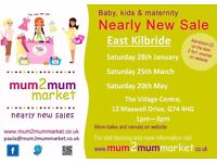 Mum2mum Market - Baby and Kids Nearly New Sale (East Kilbride) 25th March