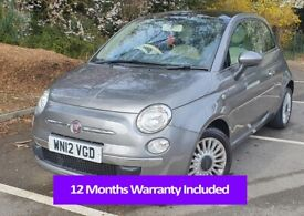 image for 2012 FIAT 500 1.2   1 YR WARRANTY   MOT   30K MILES   GREAT CONDITION   DELIVERY AVAILABLE