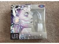 BLUETOOTH LED COLOUR FLASHING LIGHTS HEADPhones
