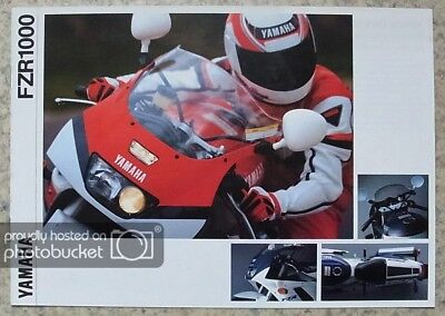 YAMAHA FZR1000 Motorcycle Sales Brochure c1992 #LIT-3MC-0107008-92E