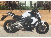 Kawasaki er6n, 2012, pearl white, low mileage: 1849
