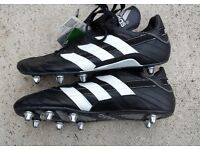 Mens ADIDAS Cavalier Low 8 - Rugby Boots 662740 - BLACK Vintage - UK 13 = NEW