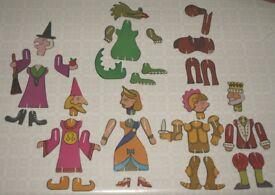 Vintage 3D Fairy-Tale Puzzle Characters
