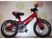Lightweight Carrera star 14 inch kids bike girls boys similar to Frog or Islabike Cnoc for ages 4+