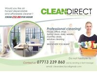 CLEANDIRECT Professional Cleaning Services JUST FROM £12 PER HOUR!