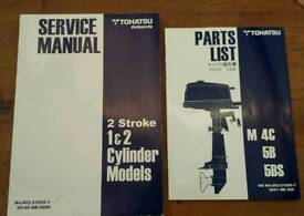 2 New Tohatsu outboards service and parts manuals