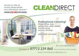 CLEANDIRECT Professional Cleaning Services JUST FROM £13 PER HOUR!