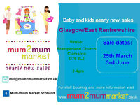 Mum2mum nearly new baby and children's sale - GLASGOW/EAST RENFREWSHIRE.