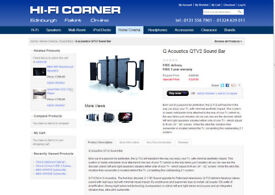 100 Watt QTV2 TV Speakers including optical toslink