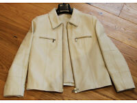Italian Leather jacket size 8 hand made in designer shop in Sorrento, as new.