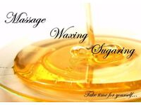 Therapeutic massage, waxing, sugaring