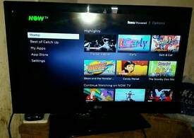 32 inch LG slimline led TV with built-in Freeview but no remote control