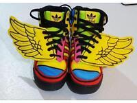 Size 7.5 U.K. Jeremy Scott Adidas wings
