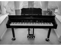 Roland KR 977 mini baby grand piano with piano stool