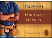 Handyman, Painter decorator, Furniture assembler, Gardening, Work weekends and evenings