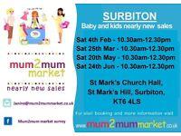 25th March - Surbiton mum2mum market nearly new sale