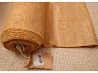 *New Gold Chenille Velvet Curtain Fabric:9.5 Metre & 6 Piece Matching Cushion Set/Tassel:Furnishings