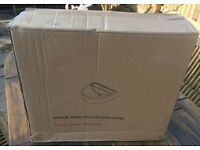 Cloakroom Bathroom Sink/Basin (1 tap hole) with Full Pedestal - New And Boxed