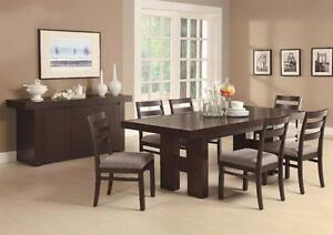 Double Pedestal Extendable Dining Table Set!Available  in Kamloops