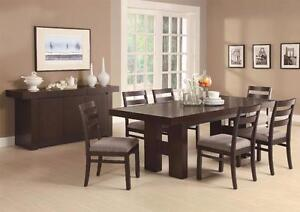 Double Pedestal Extendable Dining Table Set! Available in Kamloops