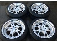 RH ZW3 Alloys wheels & Tyres * Staggered BMW AUDI VW SEAT MERCEDES 5x112 5x120