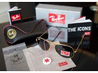 Rayban Sunglasses Gold Aviators brand new bargain joblot wholesale boys girls, mens and womens