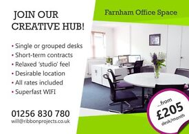 Farnham Office Space - Single and grouped desks to rent in Farnham town centre