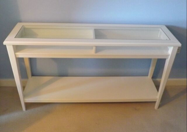 Strange Ikea Slim Console Hall Glass Topped Table Plus 3 Box Shaped Storage Baskets In Poole Dorset Gumtree Dailytribune Chair Design For Home Dailytribuneorg