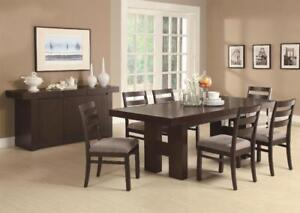 FREE Shipping in Vancouver! Toronto Double Pedestal Dining Room Set! Brand New!