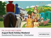 Goodwood Racecourse Bank holiday (sat 25th) x 3