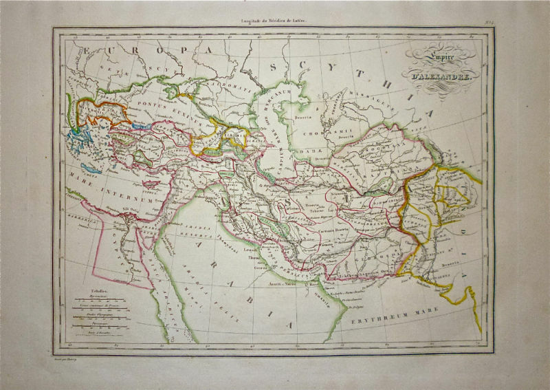 1833 Genuine Antique map Alexander