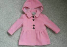 Baby Girl Coat 9-12 Months - Excellent Condition