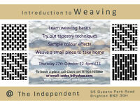 Introduction to weaving Workshop 12pm-4pm on Friday 27th October in Hanover.