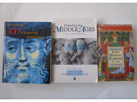 Set MEDIEVAL MIDDLE AGES HISTORY Paperback Study Degree Undergraduate Books