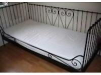 Ikea black metal frame bed