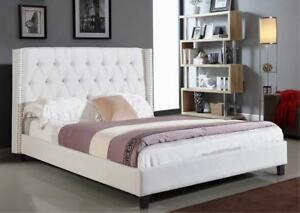 Ivory Fabric Bed on sale price(IF276)