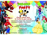 Children's Entertainer / Super Heros Characters / Balloon animals / Magic