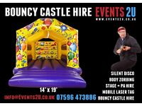 Bouncy Castle Hire | PA & DJ Lighting | Football Pool Inflatable | Laser Tag Equipment Hire