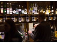 Experienced Bar Person Required