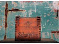 Vintage Shweppes wooden Bottle Carrier