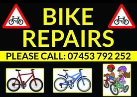 We service bikes