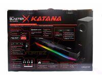 creative soundblaster x rgb speakers katana . soundbar and subwoofer included