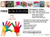 Looking for a volunteer over 18 and DBS checked for kids Arts & Crafts workshops