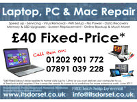 Laptop PC & Mac Repair. Qualified Engineer. No Fix No Fee. FREE tech support by e-mail.