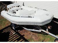 Rib jet boat 85hp 3.5 metre