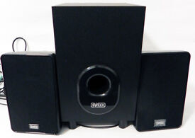 Sweex 2.1 Active Bass Audio Computer Desktop 80W Audio Speaker System - Black
