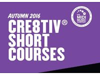 Cre8tiV short adult and youth courses in Music Production, Choir, Guitar and Youtube for Musicians