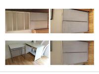 FREE : 4 Furniture pieces (Storage Unit / Bookcases & Desk)
